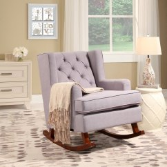 Abbyson Living Thatcher Fabric Rocking Chair In Beige Barber Chairs Hyderabad Buy Room Online At Overstock Our Best
