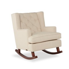 Abbyson Living Thatcher Fabric Rocking Chair In Beige Spandex Covers For Rent Room Chairs Less Overstock