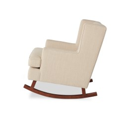 Abbyson Living Thatcher Fabric Rocking Chair In Beige Step2 Deluxe Art Master Desk With Room Chairs For Less Overstock