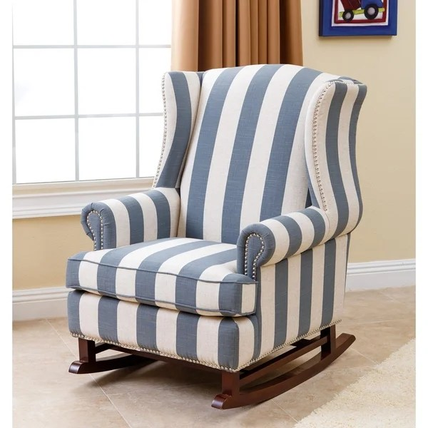 abbyson living rocking chair best ergonomic chairs 2016 radcliffe two tone fabric rocker - free shipping today overstock 17640481