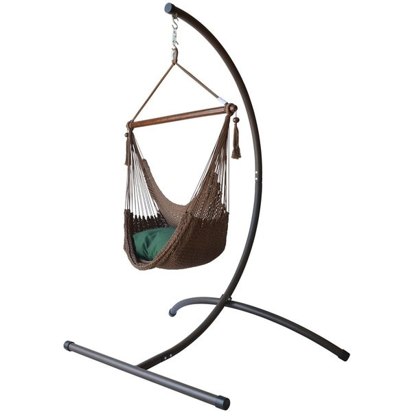 hammock chair c stand modern chairs for sitting room shop caribbean with footrest and free