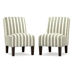 Blue And White Striped Chair Cheap High Chairs Shop Handy Living Jules Stripe Armless Set Of 2