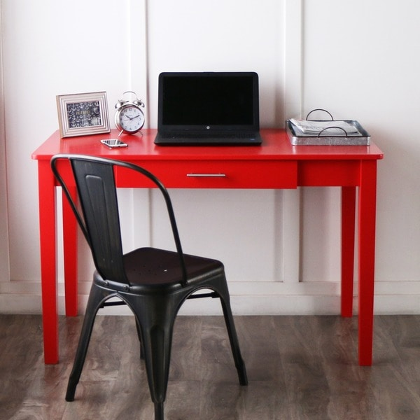 Shop 48inch Red Wood Writing Desk  Free Shipping Today