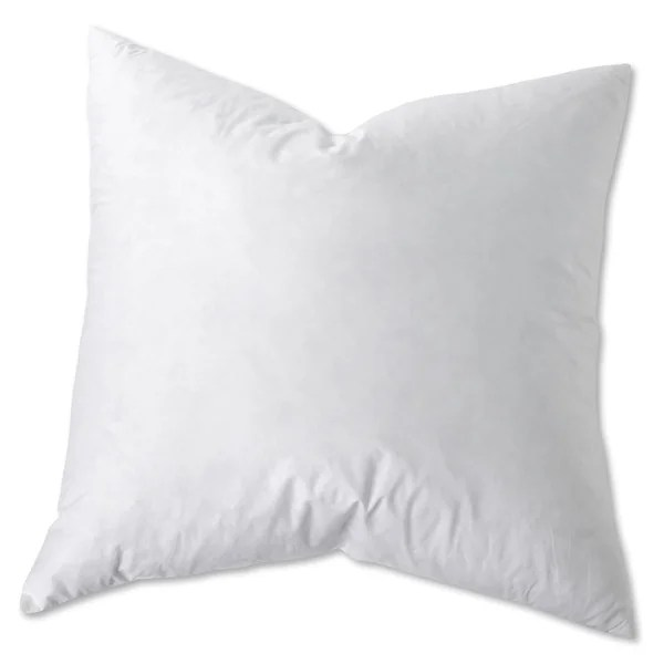 white goose feather and down euro square pillow set of 2