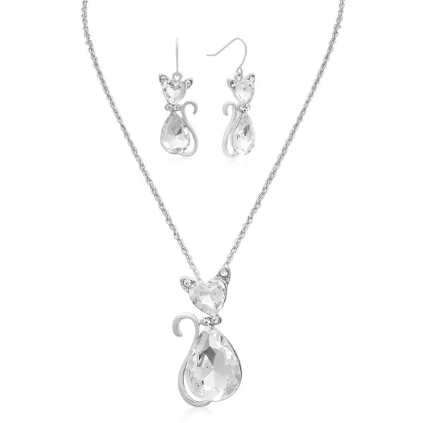 Shop Adoriana Sassy Crystal Cat Necklace With Free