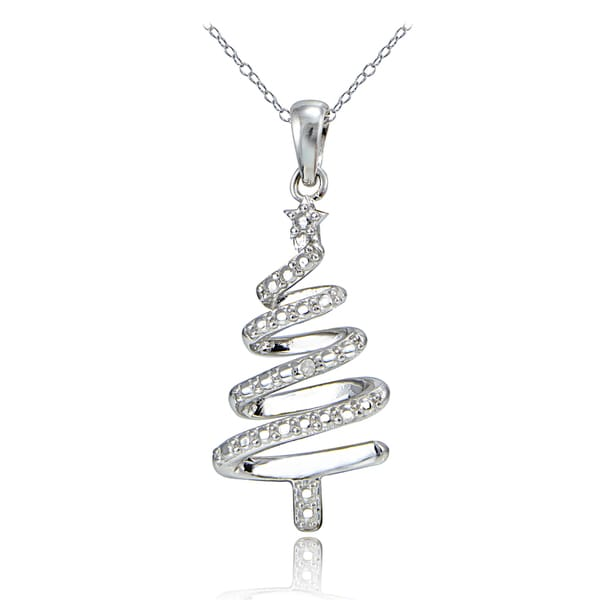 Shop DB Designs Sterling Silver Diamond Accent Spiral