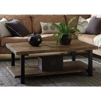 Alaterre Pomona 48-inch Long Metal and Reclaimed Wood ...