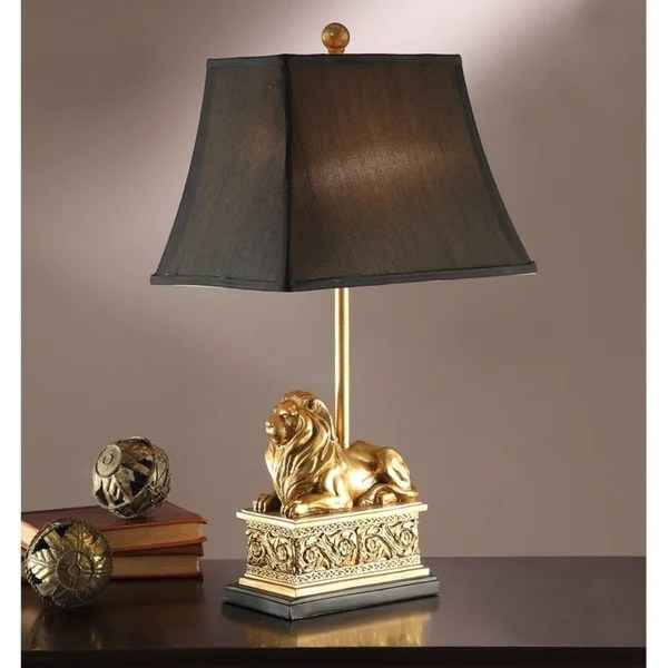 Shop Golden Lion Table Lamp Set Of 2 Free Shipping