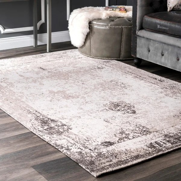 rugs for living room in home goods red carpet designs nuloom handmade distressed abstract vintage ivory rug (5 ...