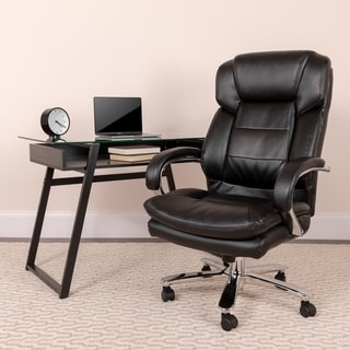 leather chair office black spindle arm buy conference room chairs online at overstock com quick view