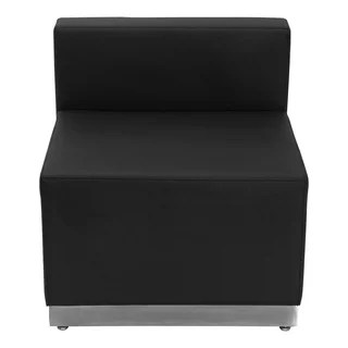 rialto black bonded leather chair game of thrones replica zoli mid century modern design upholstered accent with chrome base - 18316736 ...