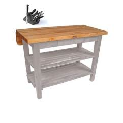 Boos Kitchen Islands Table With Leaf Insert Shop John 48 X 32 Island Bar Drop Kib01 Ug Amp
