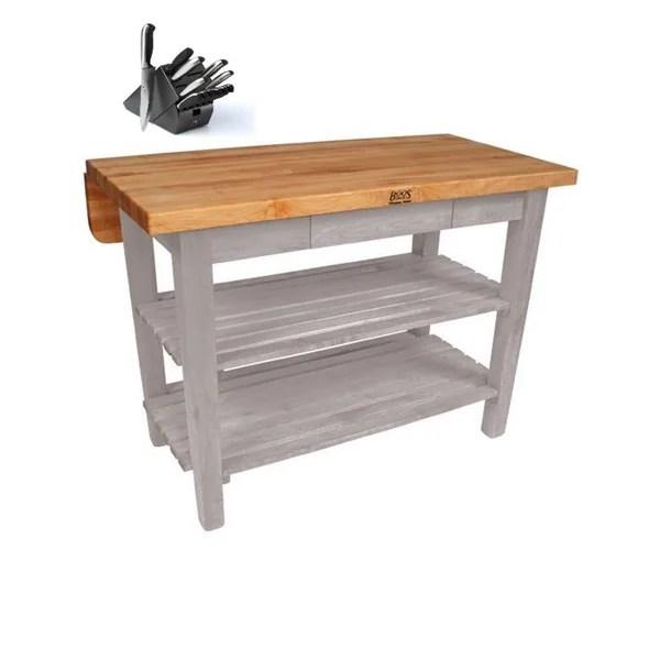 john boos kitchen island ikea rack shop 48 x 32 bar drop leaf kib01 ug amp
