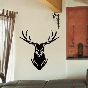 Angry Deer Head Vinyl Wall Art Decal Sticker