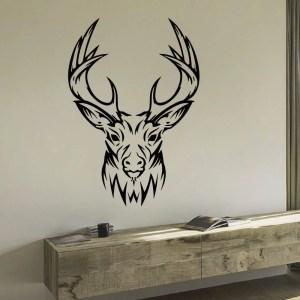 Tribal Deer Head Vinyl Wall Art Decal Sticker