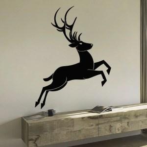 Christmas Deer Vinyl Wall Art Decal Sticker