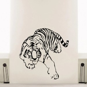 Crawling Tiger Vinyl Wall Art Decal Sticker