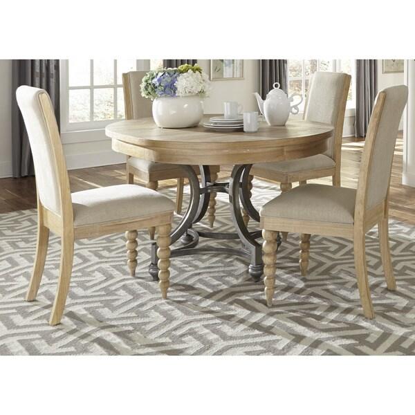 round black kitchen table back splash shop cottage harbor sand dinette beige free shipping today overstock com 10643073