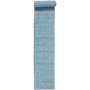 Hand-loomed Modern Gabbeh Sky Blue Oriental XL Runner Area Rug - Light Blue