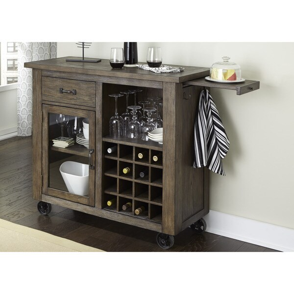 Shop Liberty Franklin Rustic Brown and Metal Wine Cabinet  Free Shipping Today  Overstockcom