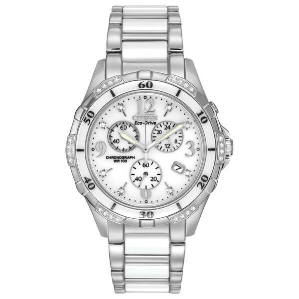 Shop Citizen Women's FB1230-50A Eco-Drive Ceramic Watch