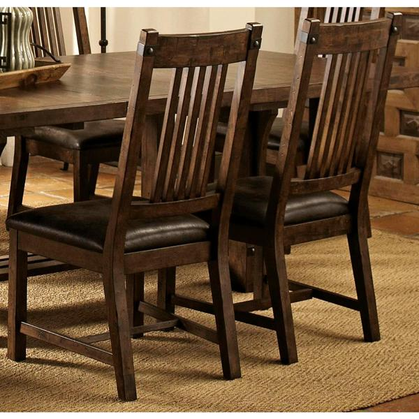 dining chairs overstock chair rentals las vegas shop rimon solid wood mission style rustic set of 2 free shipping today com 10652702