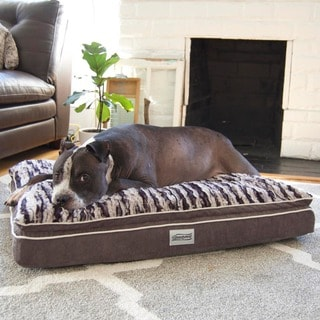 panache sofa pet bed fabric upholstery repair soft touch large right angle bolster lounger - elude ...