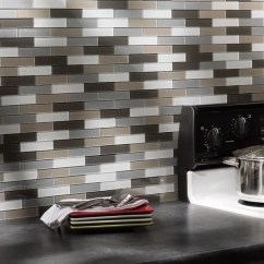 Menards Kitchen Backsplash 4 Hole Faucet Shop Aspect Glass Matted Subway Rustic Clay 15-square Foot ...