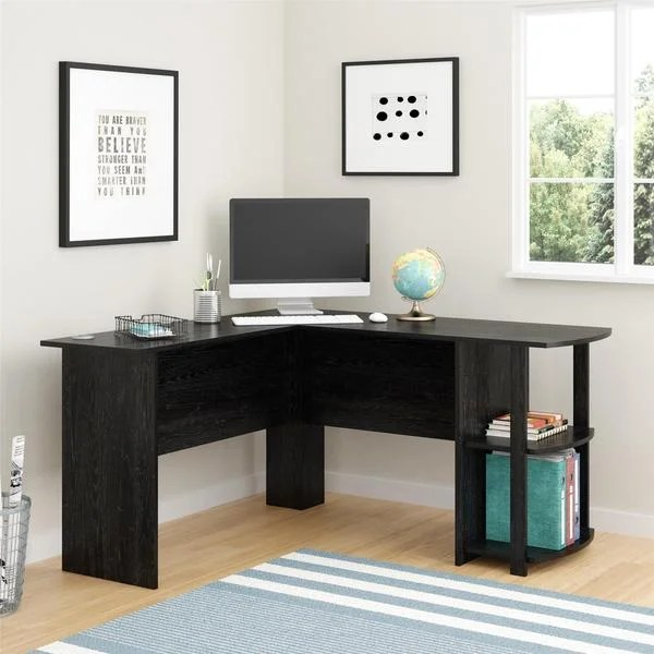 Ameriwood Home Dakota Lshaped Desk with Bookshelves