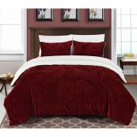 Chic Home Pinch Pleated Ruffled and Pintuck Sherpa Lined 3 ...