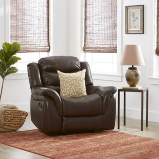 chair in living room lighting ideas for without false ceiling shop hawthorne pu leather glider recliner by christopher knight home on sale free shipping today overstock com 10673334