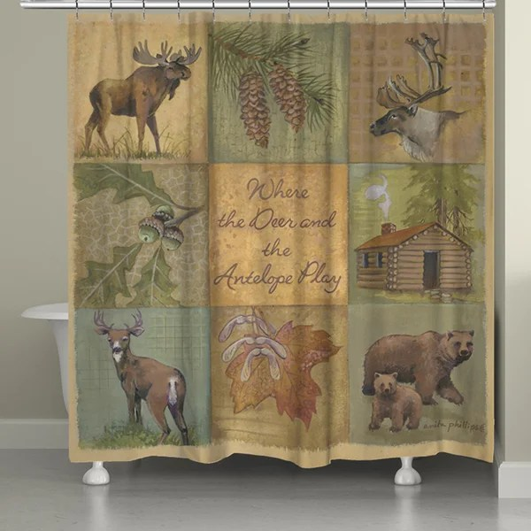 Shop Laural Home Home on the Range Shower Curtain 71inch