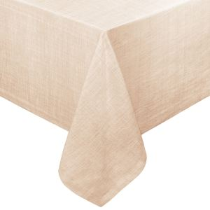 Restaurant Quality Chambray Vinyl Table Cloth with Soft Flannel Backing