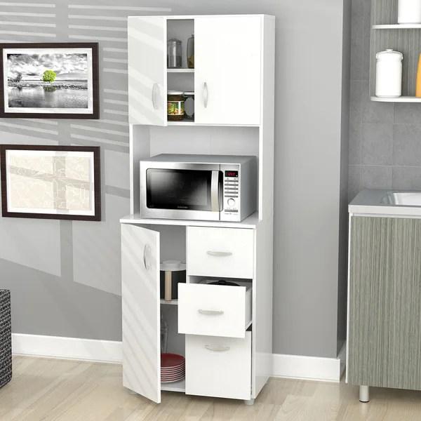 storage cabinets kitchen barn house shop inval america larcinia white laminate wood cabinet