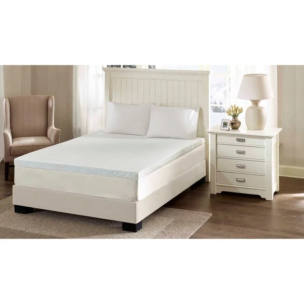 Flexapedic By Sleep Philosophy 3 Inch Memory Foam Stain Resistant And Non Skid Backing