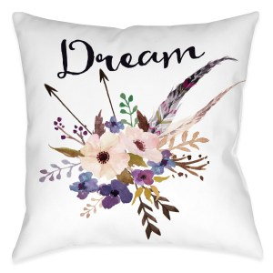 Laural Home Floral Bohemian Dream Decorative 18 Inch Throw Pillow