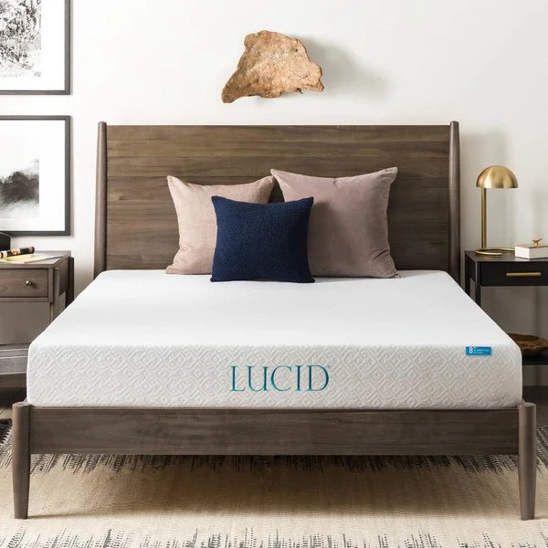 Lucid 8 Inch Full Size Gel Memory Foam Mattress