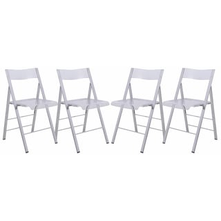 folding chair kitchen craftsman rocking styles buy chairs dining room online at overstock leisuremod menno clear contemporary w chrome frame set of 4