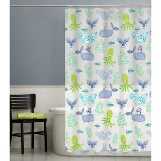 PEVA Shower Curtains Overstock Com Vibrant Fabric Bath Curtains