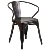 Antique Metal Chair with Arms - Free Shipping Today ...