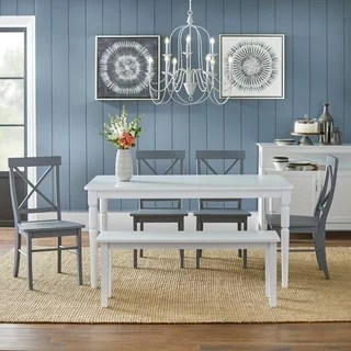 kitchen table with bench and chairs booster seat buy seating dining room sets online at overstock com simple living 6 piece albury set