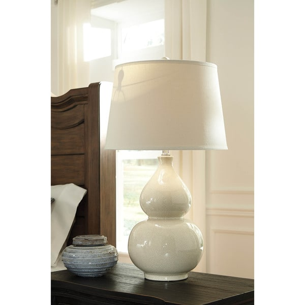 Shop Saffi Cream 31 Inch Ceramic Table Lamp