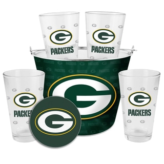 green bay packers chair ikea bar covers shop glass bucket and pint gift set - free shipping today overstock.com ...