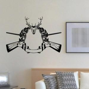 Deer Hunting Gun Rifle Vinyl Wall Art Decal Sticker