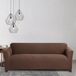 Sure Fit Stretch Plush 2 Piece T Sofa Slipcover Ofertas Sofas Madrid Europolis Suede Chair - 16456721 Overstock.com ...