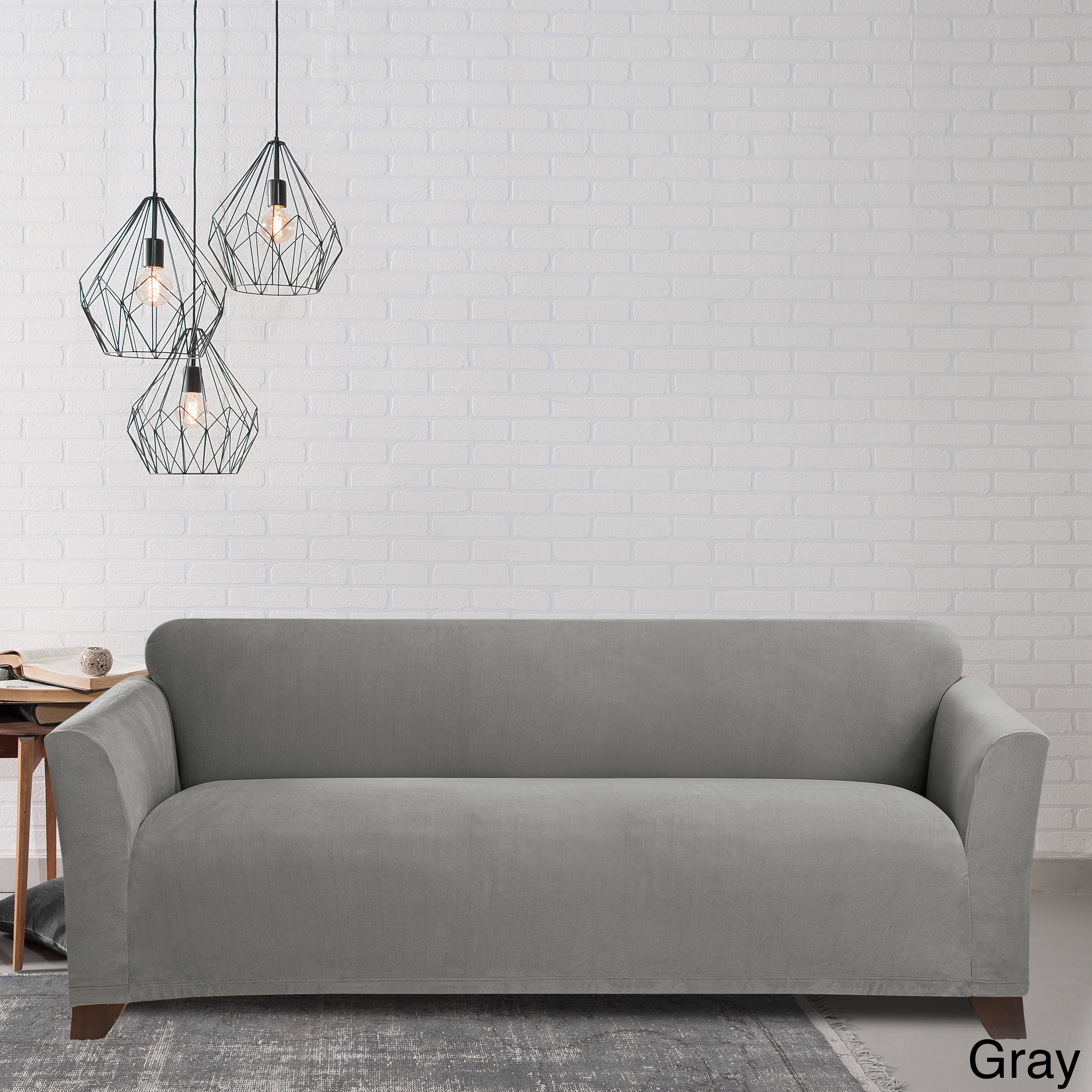 stretch morgan 1 piece sofa furniture cover j m paquet grey & couch slipcovers for less | overstock.com