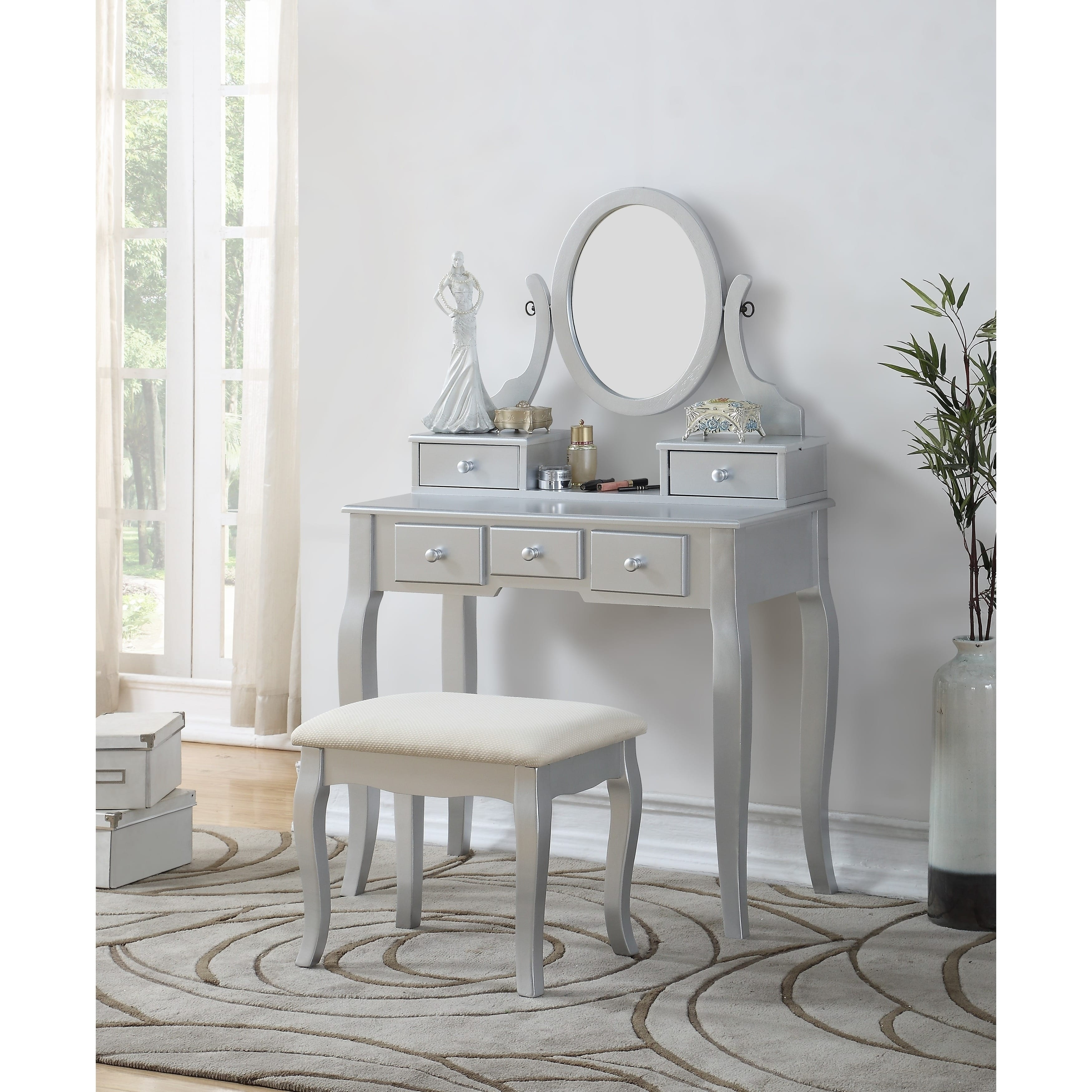 Shop Maison Rouge Alice Wood Makeup Vanity Table And Stool