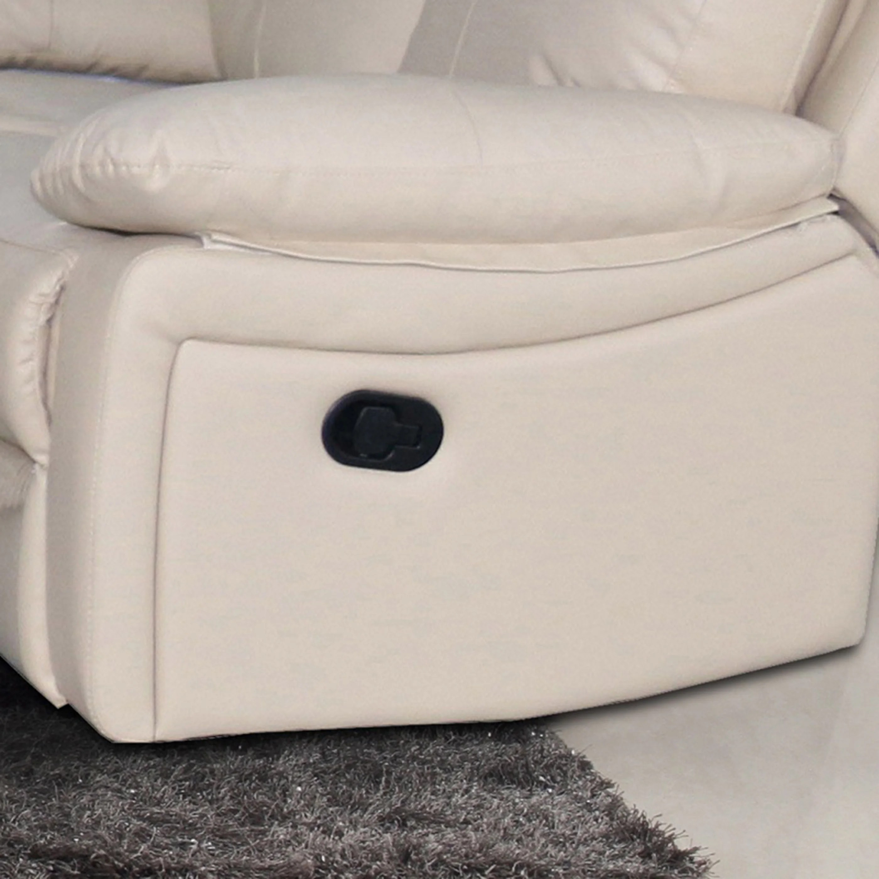 ryker reclining sofa and loveseat 2 piece set cotton duck skirted slipcover leather ebay