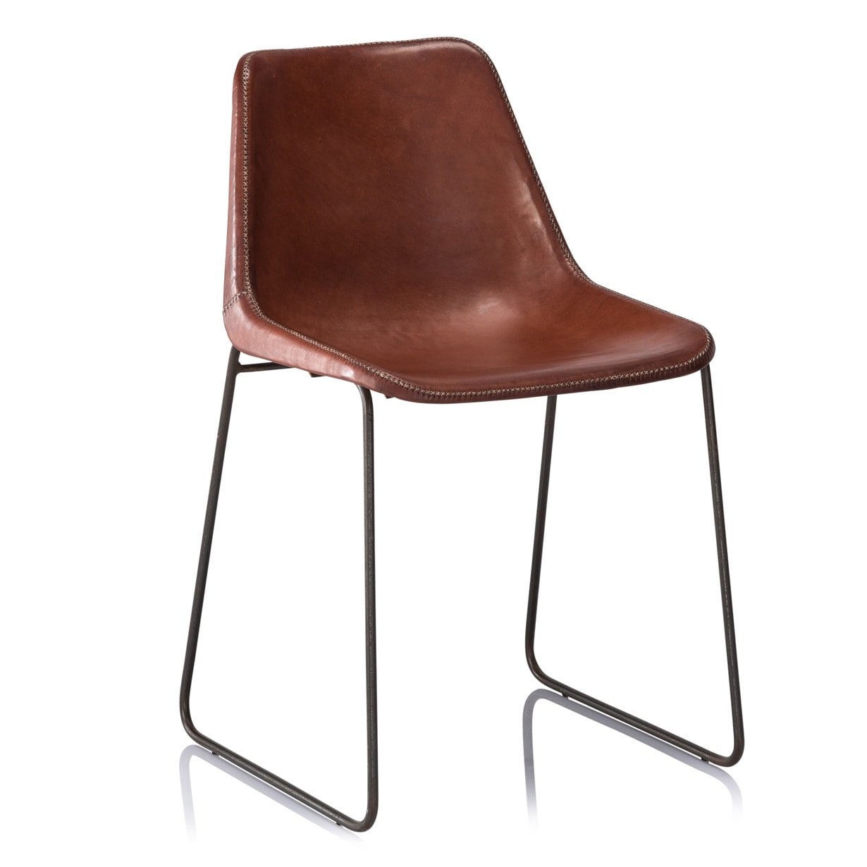 overstock com chairs web folding chair hudson brown leather dinning free shipping on