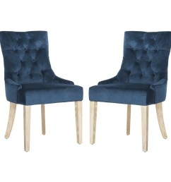 details about safavieh en vogue dining abby navy cotton dining chairs set blue [ 3000 x 3000 Pixel ]